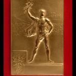 La medaglia per i vincitori a Parigi 1900.